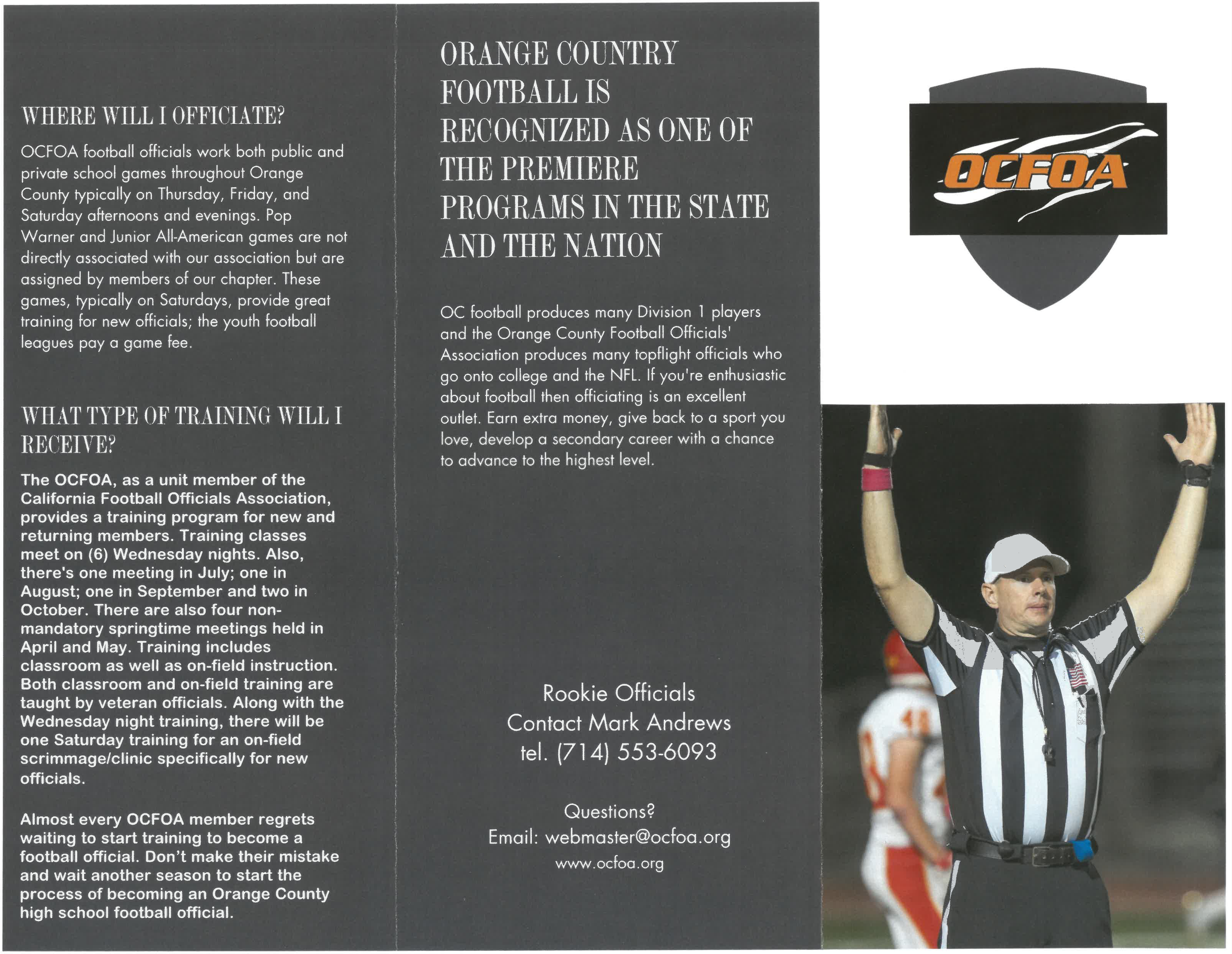 Become a Referee | Orange County Football Officials